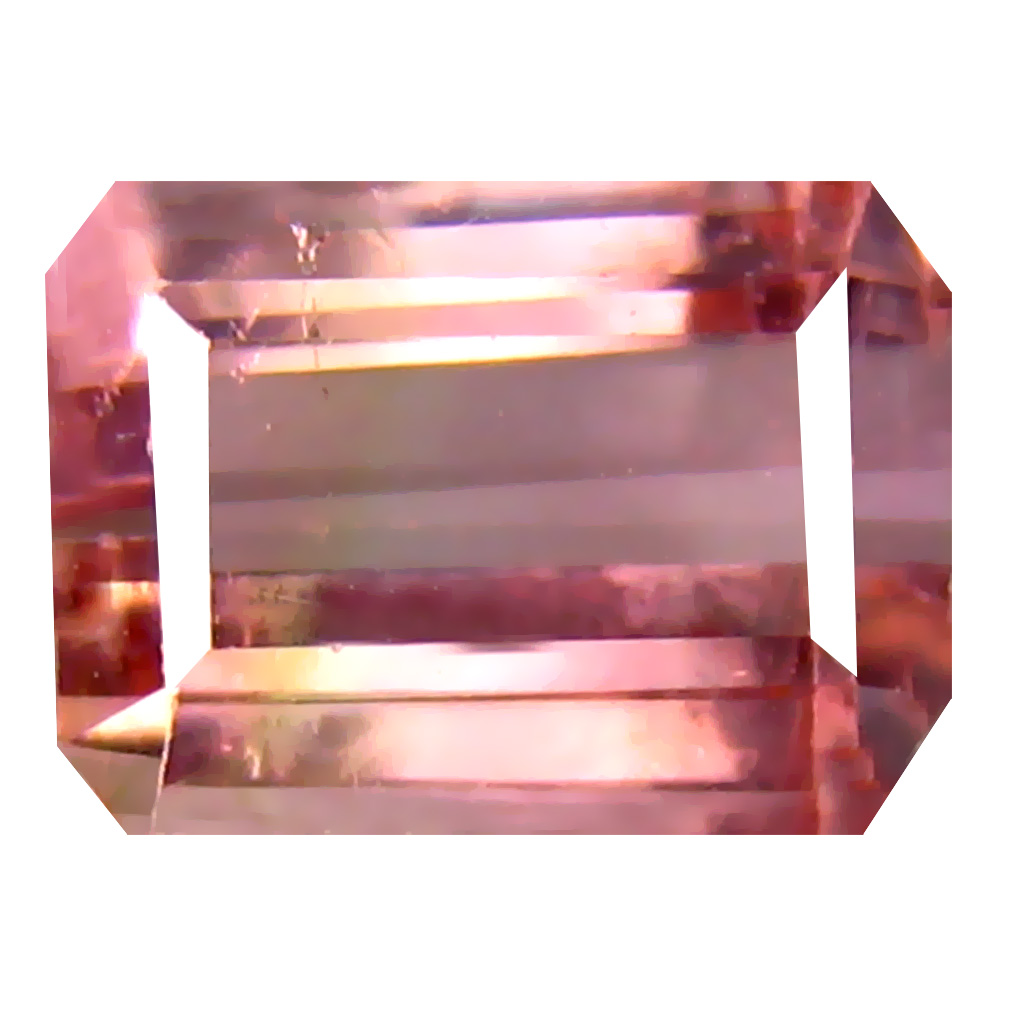 2.44 ct Pretty Octagon Cut (8 x 6 mm) Un-Heated Pink Tourmaline Natural Gemstone
