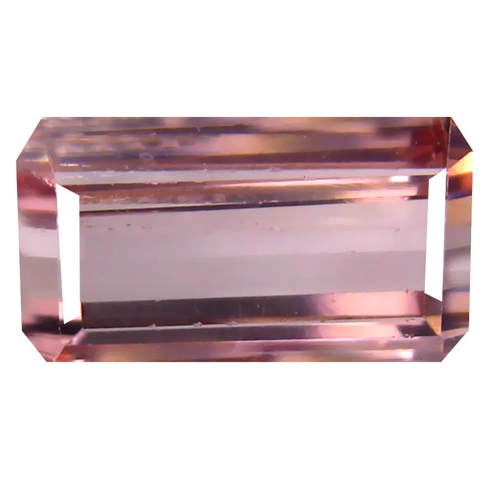 2.97 ct Topnotch Octagon Cut (10 x 6 mm) Un-Heated Pink Tourmaline Natural Gemstone