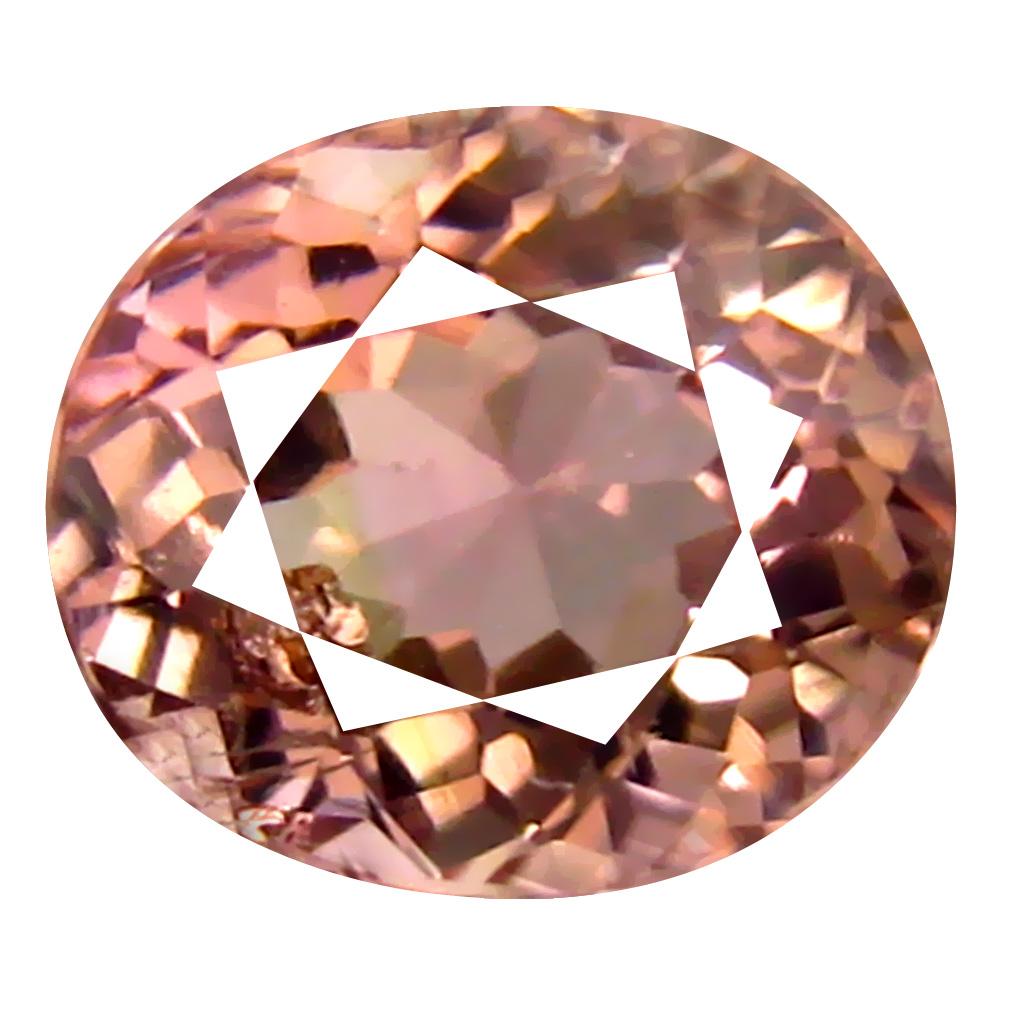 1.44 ct Spectacular Oval Cut (7 x 6 mm) Un-Heated Pink Tourmaline Natural Gemstone