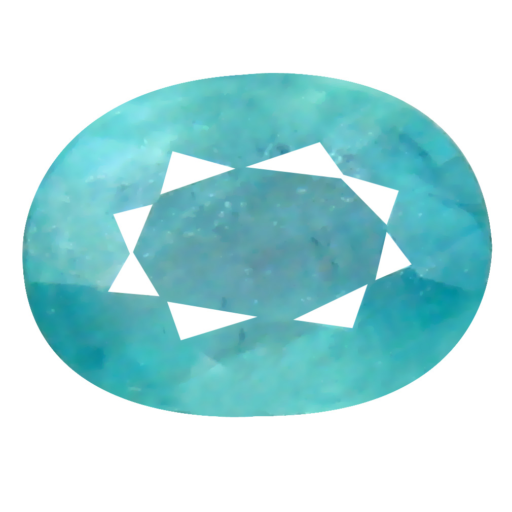 0.43 ct Phenomenal Oval Cut (6 x 4 mm) Unheated / Untreated Greenish Blue Grandidierite Natural Gemstone