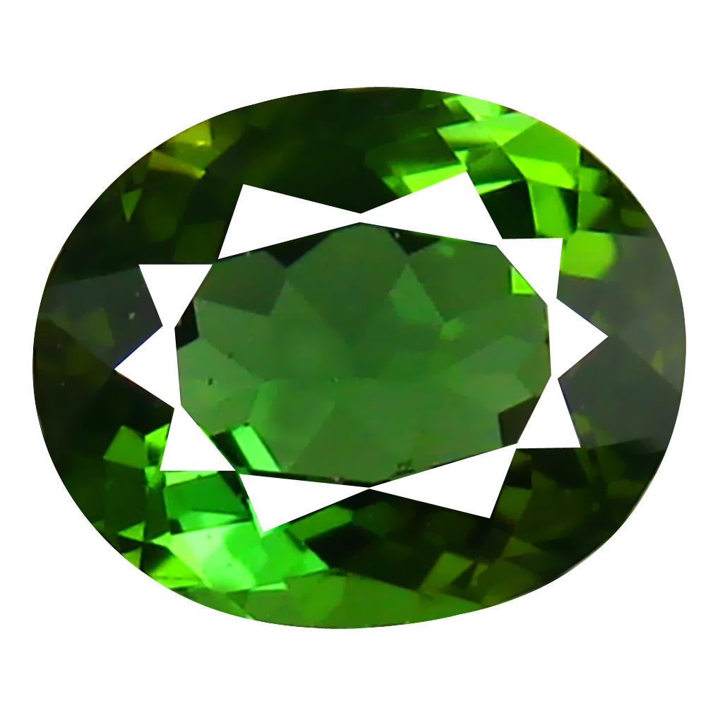 1.18 ct AAA Mesmerizing Oval Shape (7 x 6 mm) Natural Green Tourmaline Loose Stone