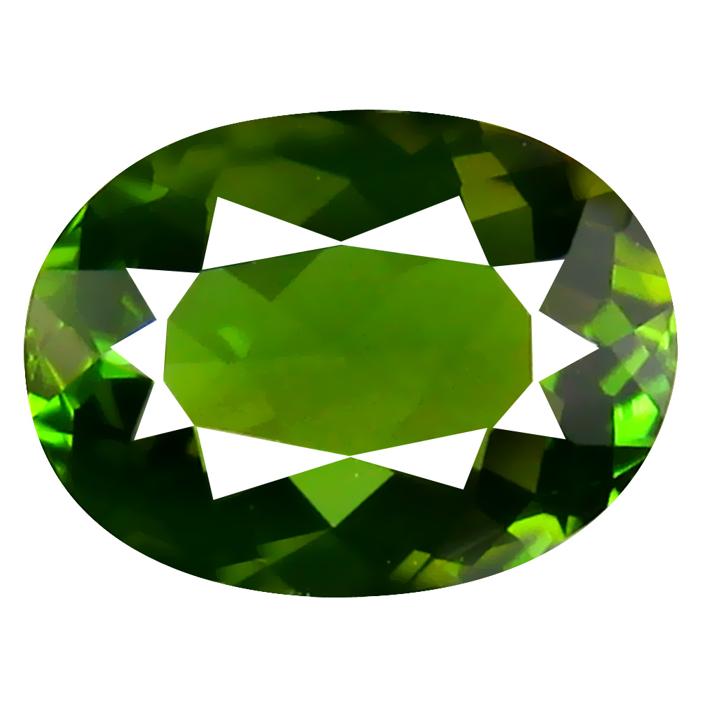 1.16 ct AAA Superb Oval Shape (8 x 6 mm) Natural Green Tourmaline Loose Stone