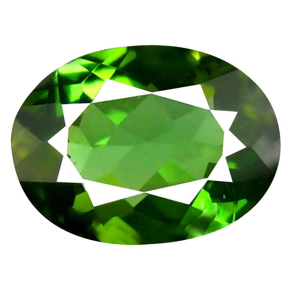 1.00 ct AAA Amazing Oval Shape (8 x 6 mm) Natural Green Tourmaline Loose Stone