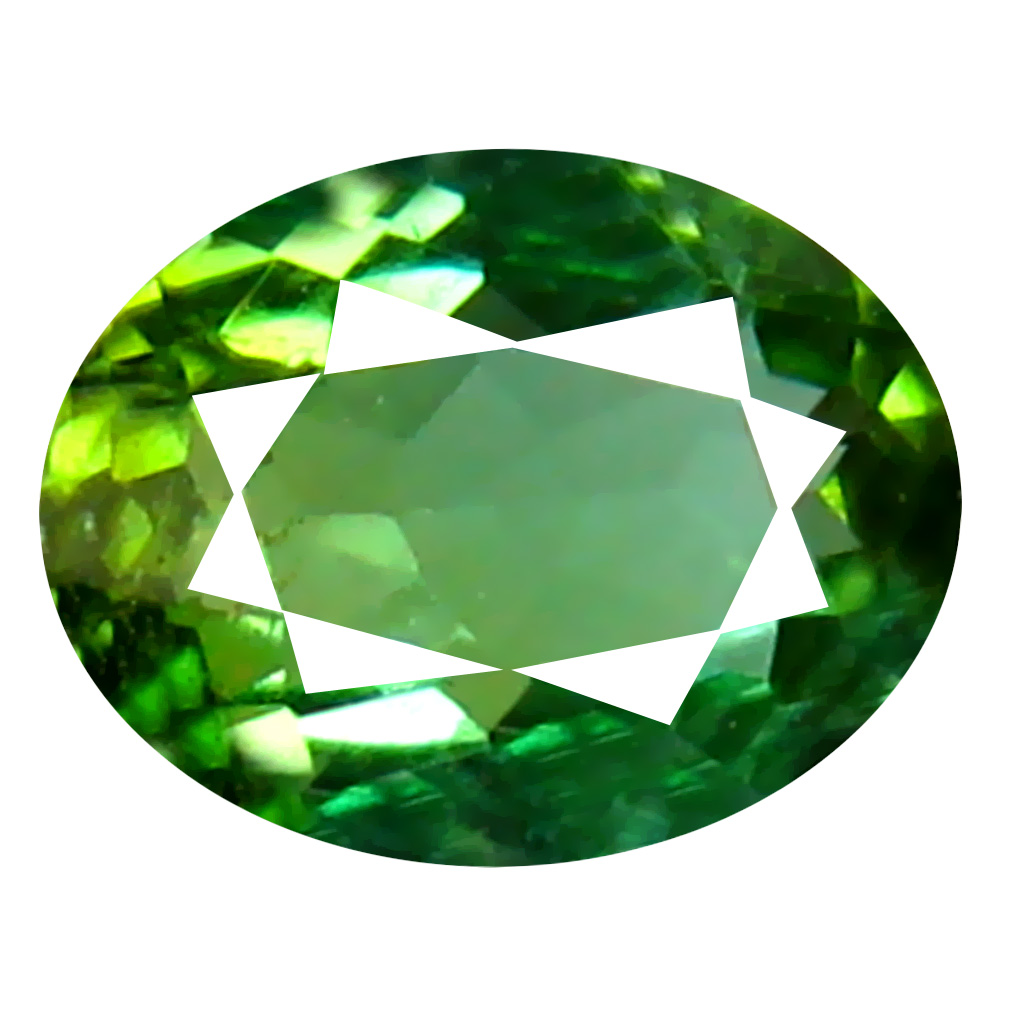 0.55 ct AAA Outstanding Oval Shape (6 x 4 mm) Natural Green Tourmaline Loose Stone