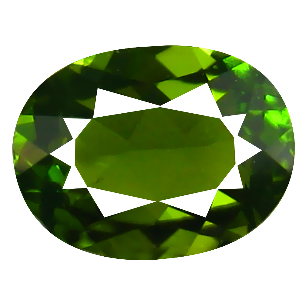 1.08 ct AAA Mesmerizing Oval Shape (7 x 6 mm) Natural Green Tourmaline Loose Stone