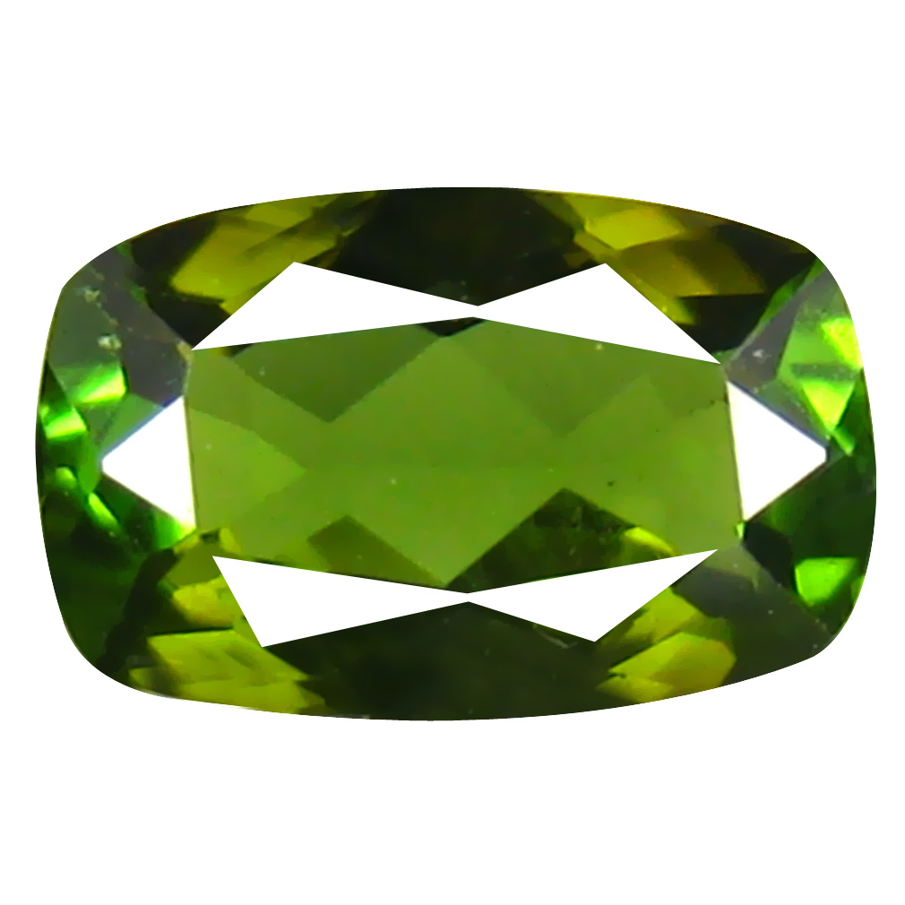 0.69 ct AAA Phenomenal Cushion Shape (7 x 4 mm) Natural Green Tourmaline Loose Stone