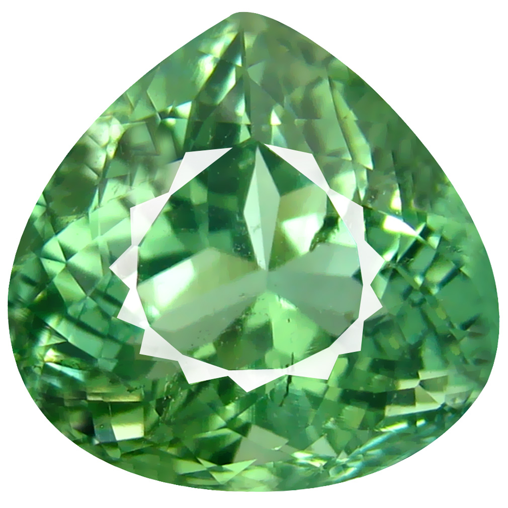 8.61 ct ATTRACTIVE HEART CUT (12 X 13 MM) MOZAMBIQUE GREEN TOURMALINE NATURAL GEMSTONE