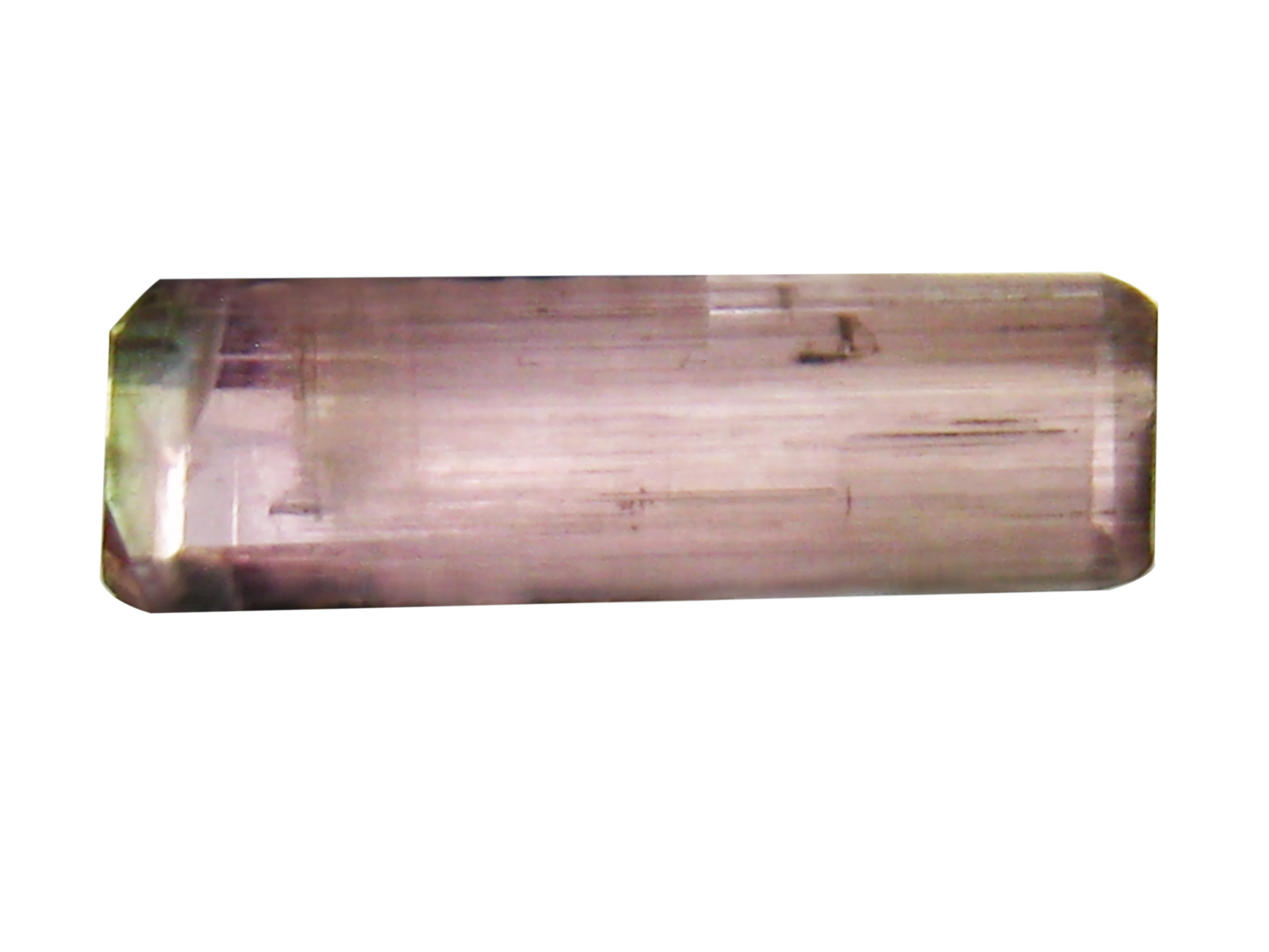 1.29 ct AAA+ Topnotch Octagon Shape (12 x 3 mm) Bi Color Bi-Color Tourmaline Natural Gemstone