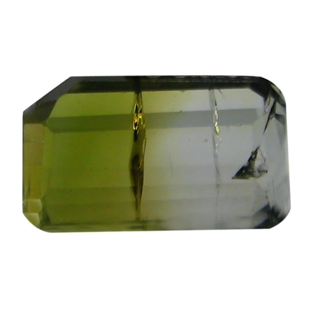 2.11 ct AAA+ Terrific Octagon Shape (9 x 5 mm) Bi Color Bi-Color Tourmaline Natural Gemstone