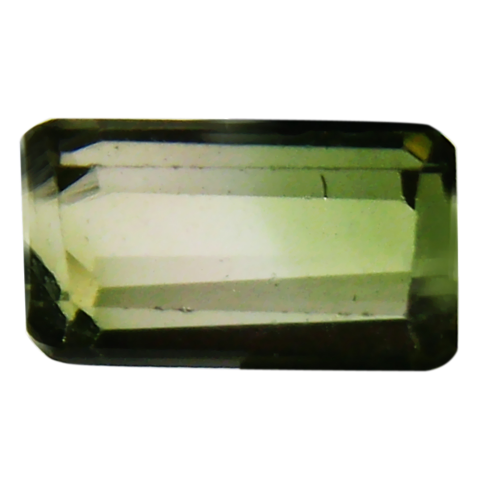 0.70 ct AAA+ Superior Octagon Shape (6 x 4 mm) Bi Color Bi-Color Tourmaline Natural Gemstone