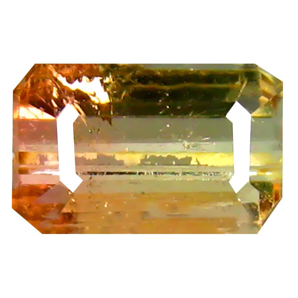 1.48 ct Supreme Octagon (7 x 5 mm) Brazilian Bi-Color Tourmaline Loose Gemstone