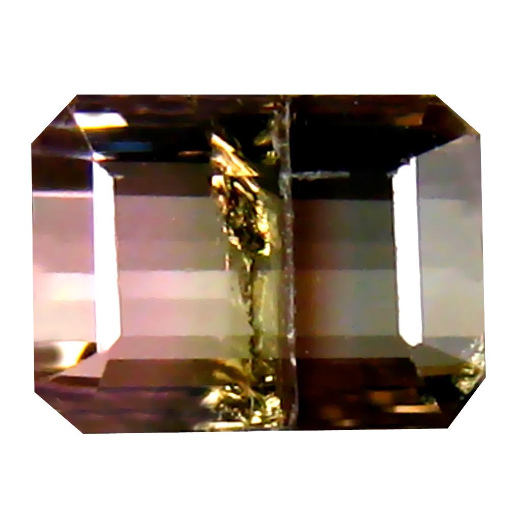 0.91 ct Significant Octagon (6 x 4 mm) Brazilian Bi-Color Tourmaline Loose Gemstone