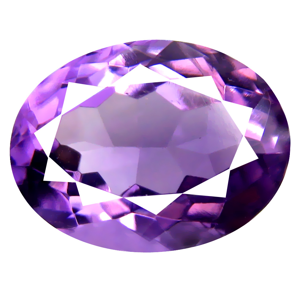 6.95 ct Eye-catching Oval (14 x 11 mm) Un-Heated Uruguay Purple Amethyst Loose Gemstone