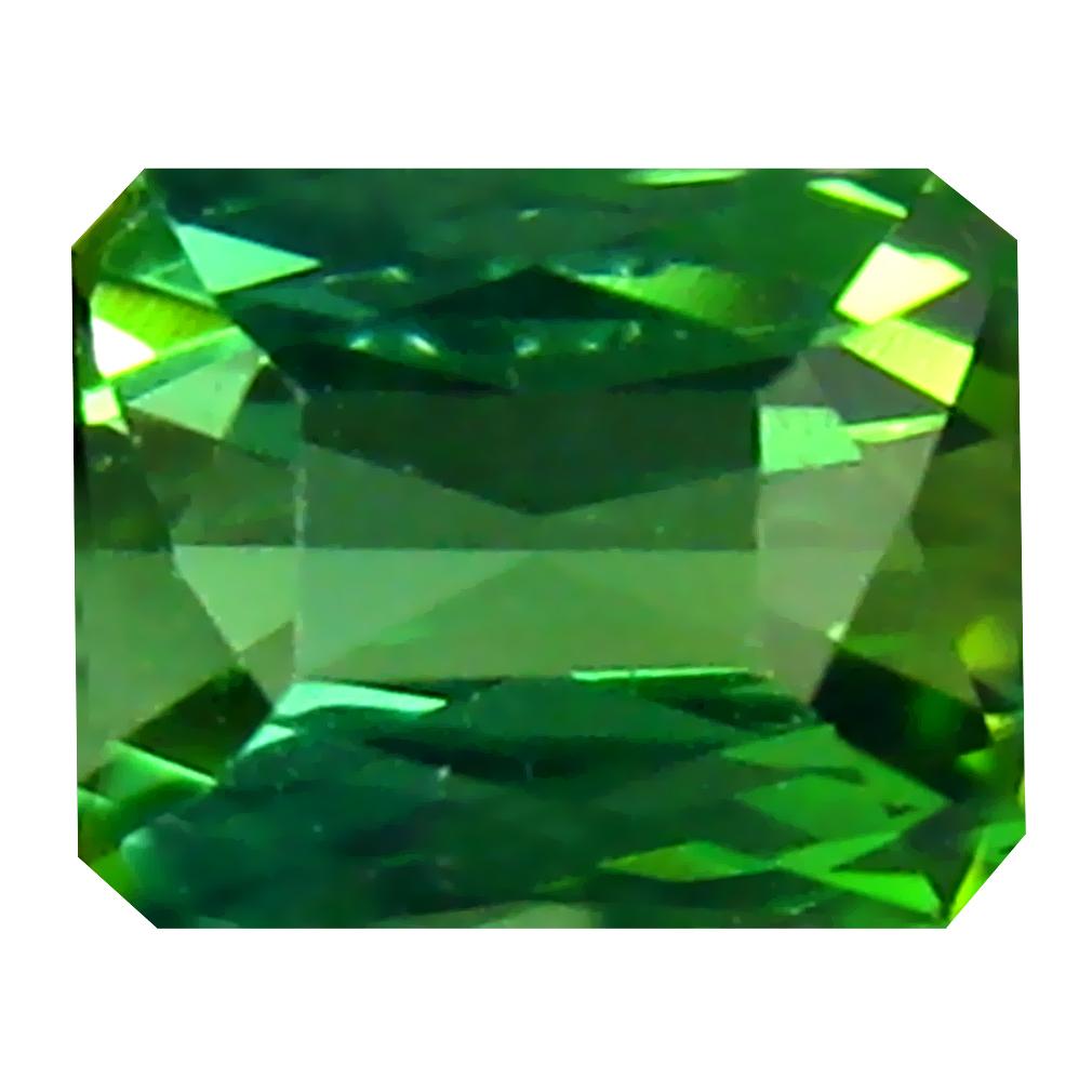 0.44 ct Premium Octagon Cut (5 x 4 mm) Un-Heated Blue Indicolite Blue Tourmaline Natural Gemstone