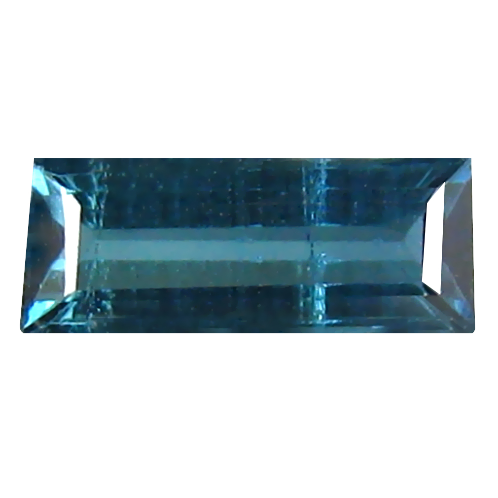 0.37 ct Amazing Octagon Cut (7 x 3 mm) Un-Heated Blue Indicolite Blue Tourmaline Natural Gemstone