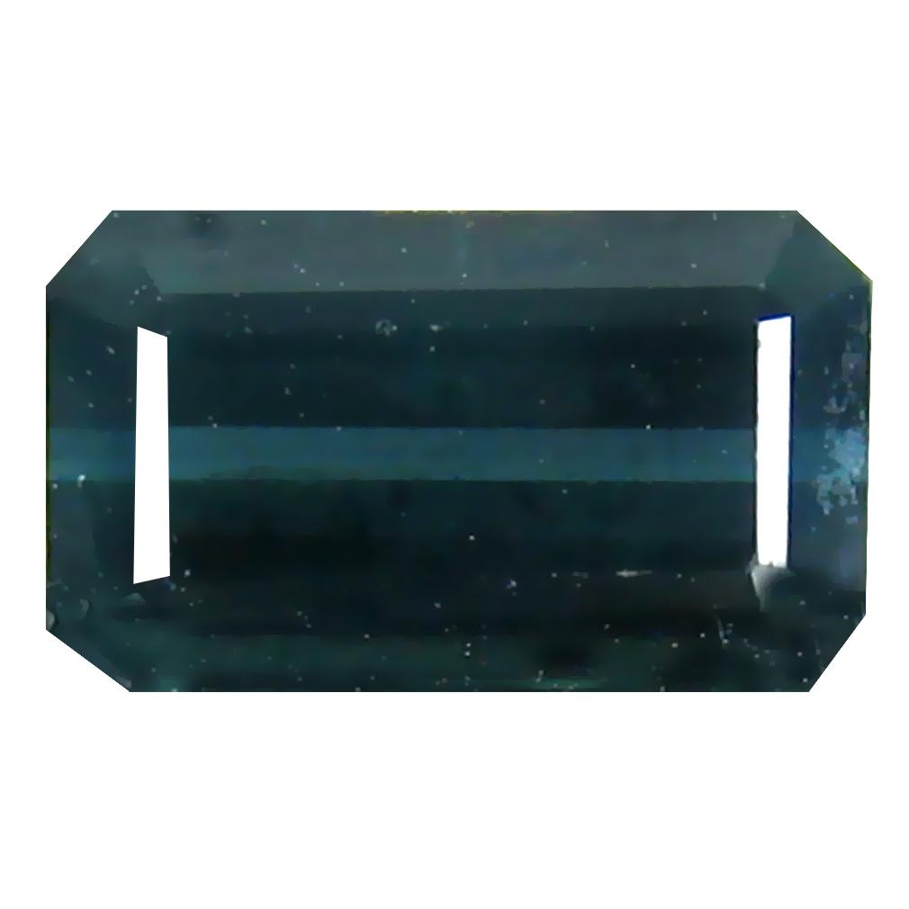 1.40 ct Superior Octagon (8 x 5 mm) Un-Heated Mozambique Indicolite Blue Tourmaline Loose Gemstone