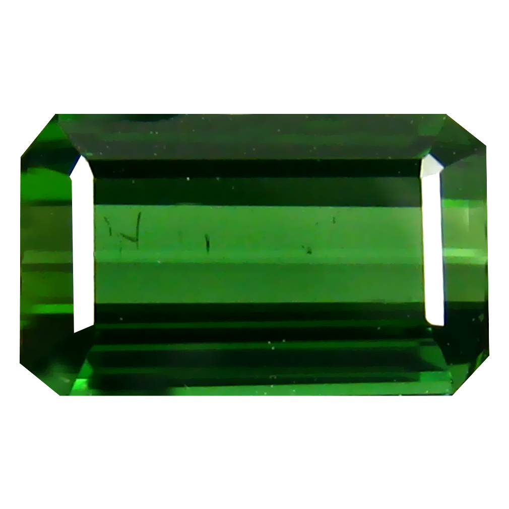 1.55 ct Beautiful Octagon (9 x 5 mm) Un-Heated Mozambique Green Tourmaline Loose Gemstone