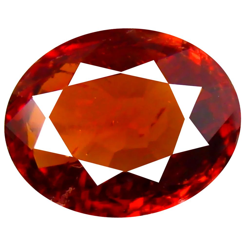 1.32 ct Magnificent fire Oval Cut (7 x 6 mm) Namibia Reddish Orange Spessartine Natural Gemstone