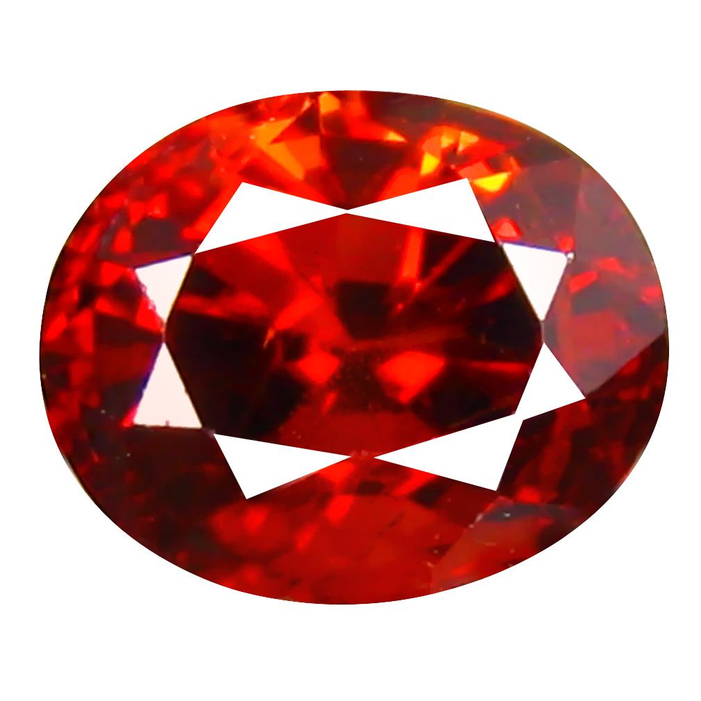 1.16 ct Superior Oval Cut (6 x 5 mm) Namibia Reddish Orange Spessartine Natural Gemstone