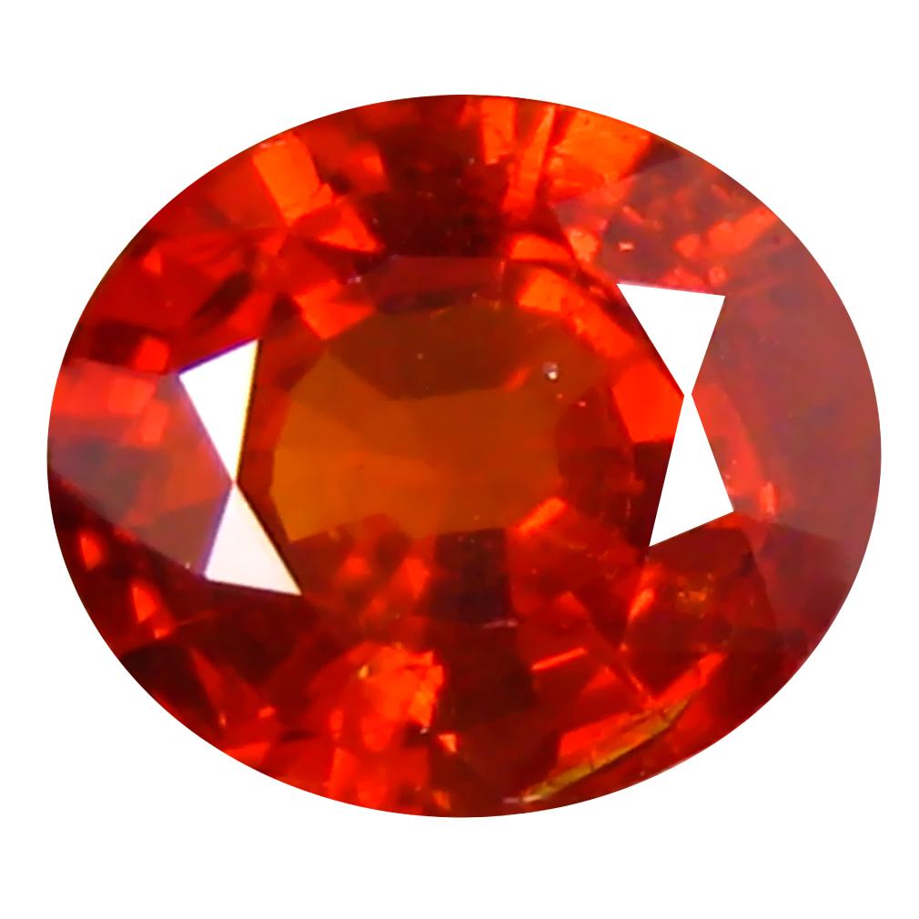 1.14 ct Super-Excellent Oval Cut (7 x 6 mm) Namibia Reddish Orange Spessartine Natural Gemstone