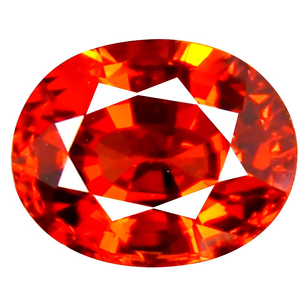 1.11 ct Gorgeous Oval Cut (6 x 5 mm) Namibia Reddish Orange Spessartine Natural Gemstone