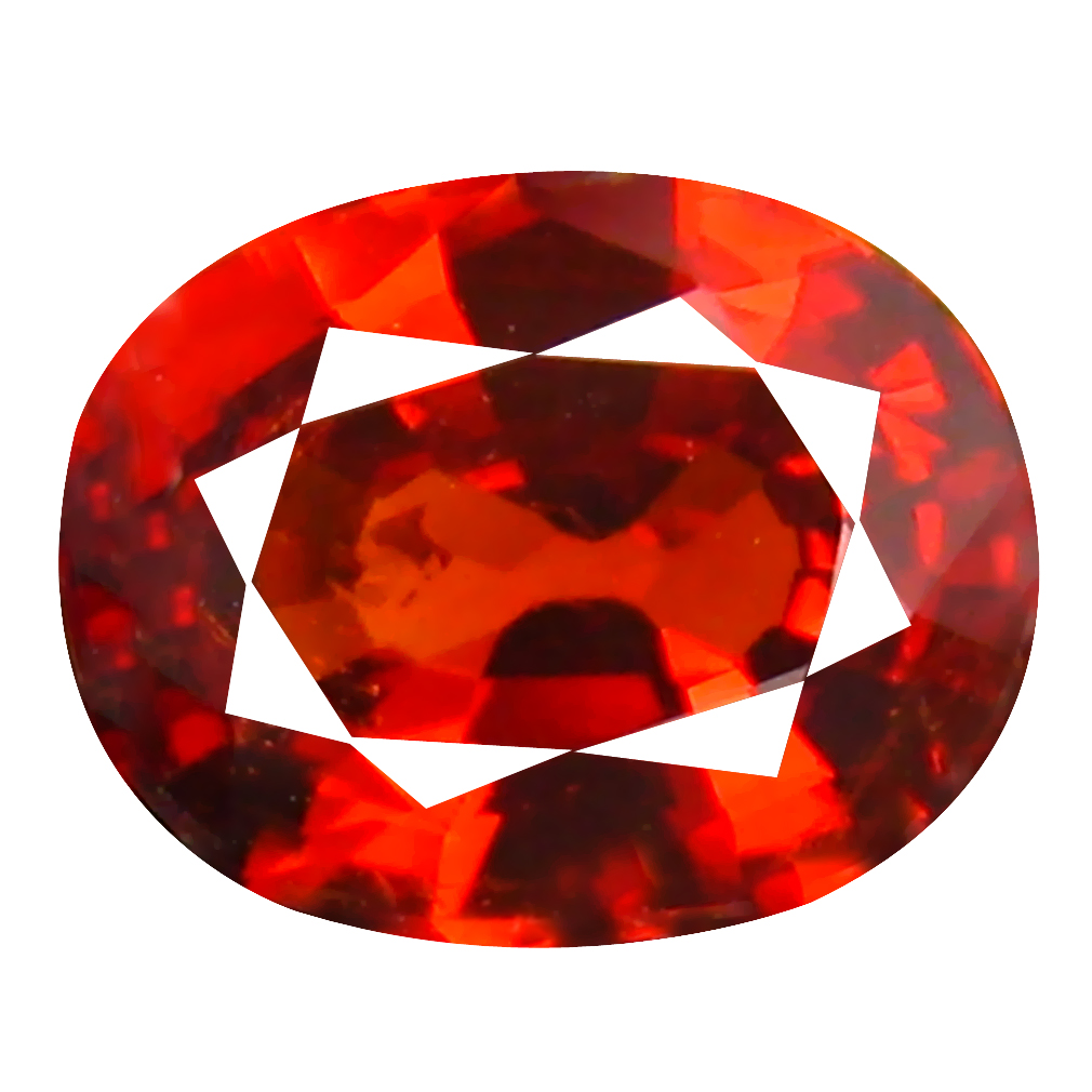1.02 ct Amazing Oval Cut (7 x 5 mm) Namibia Reddish Orange Spessartine Natural Gemstone