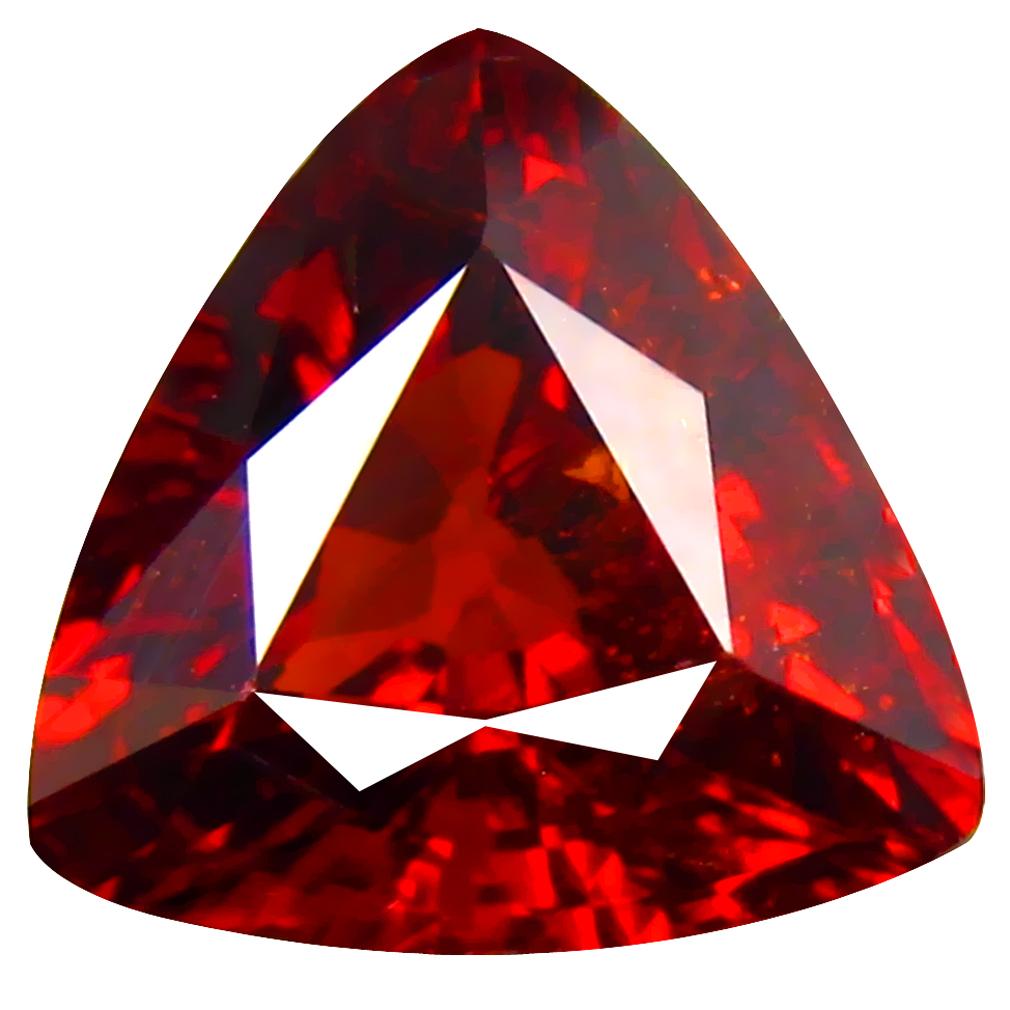 3.00 ct Charming Trillion Cut (9 x 9 mm) Namibia Reddish Orange Spessartine Natural Gemstone