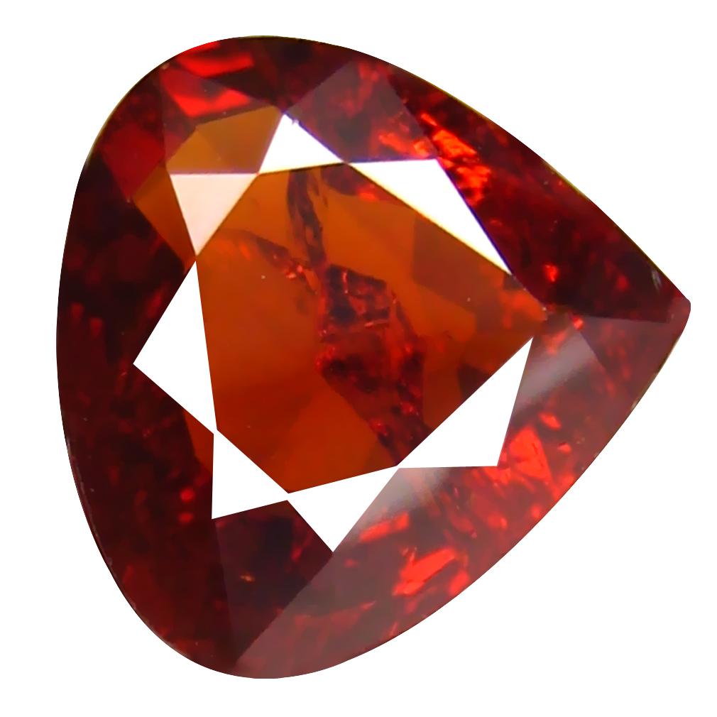 2.41 ct Lovely Pear Cut (9 x 9 mm) Namibia Reddish Orange Spessartine Natural Gemstone