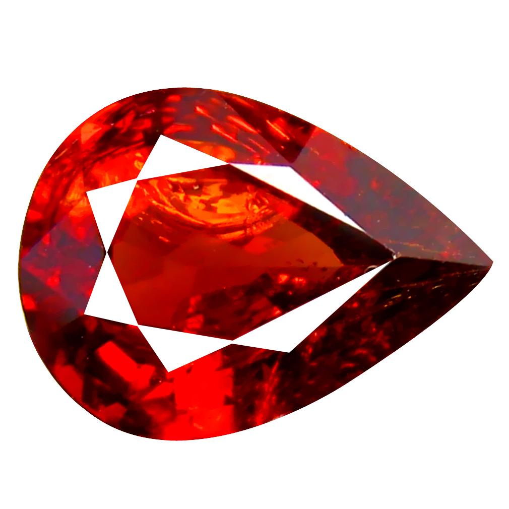 1.56 ct Gorgeous Pear Cut (9 x 7 mm) Namibia Reddish Orange Spessartine Natural Gemstone