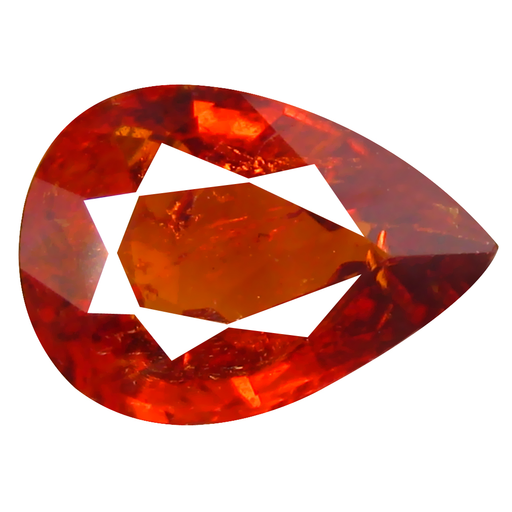 1.57 ct Fabulous Pear Cut (9 x 6 mm) Namibia Reddish Orange Spessartine Natural Gemstone