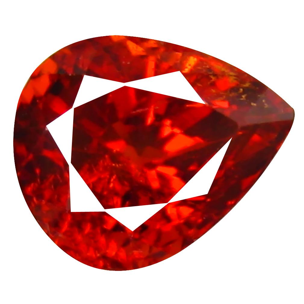 1.17 ct Superior Pear Cut (7 x 5 mm) Namibia Reddish Orange Spessartine Natural Gemstone