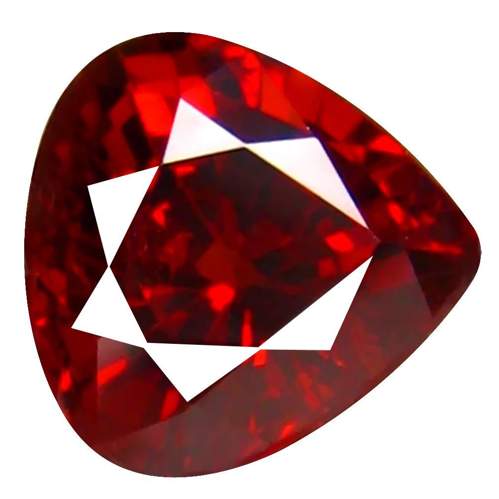 1.25 ct Eye-catching Pear Cut (6 x 6 mm) Namibia Reddish Orange Spessartine Natural Gemstone