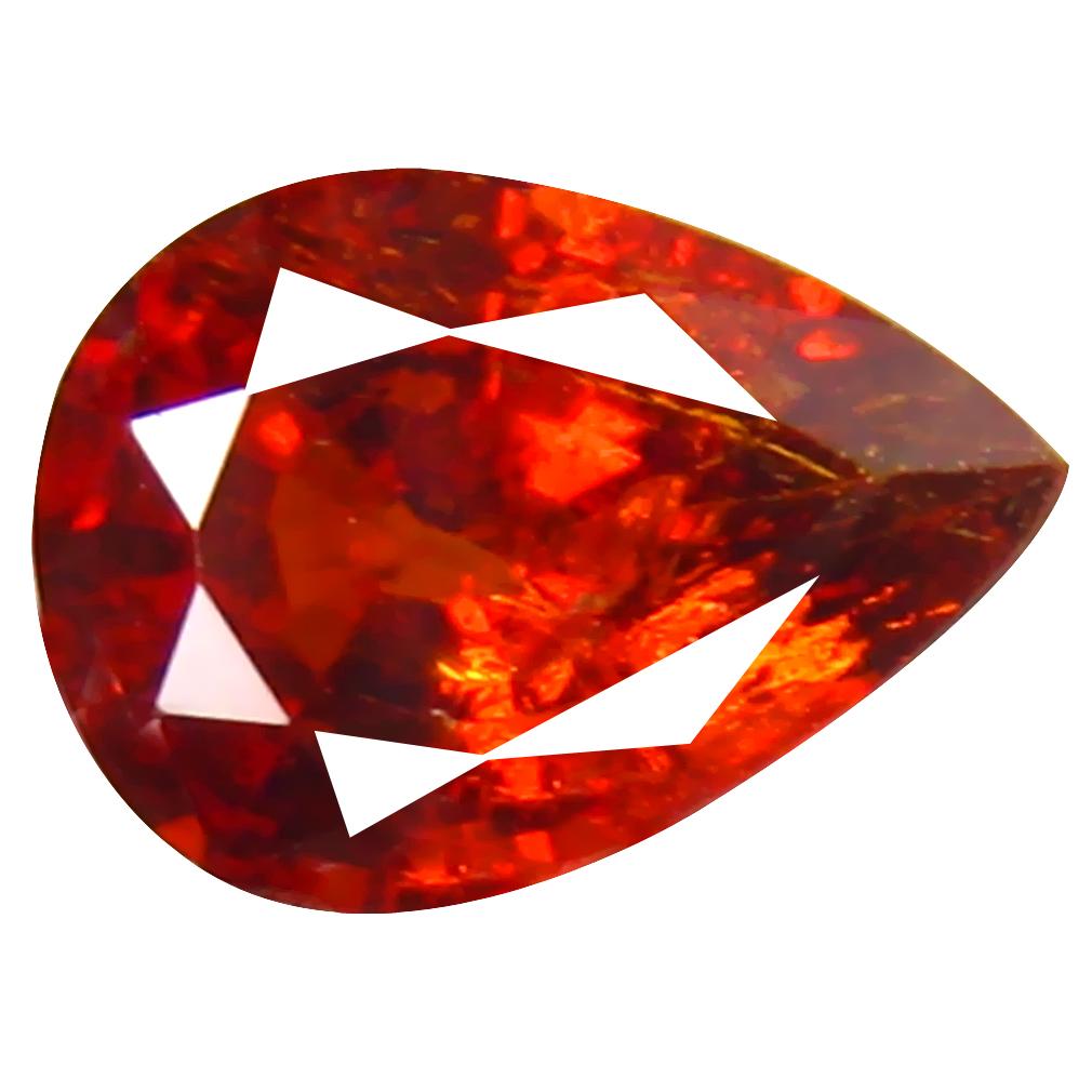 1.20 ct Pretty Pear Cut (8 x 5 mm) Namibia Reddish Orange Spessartine Natural Gemstone