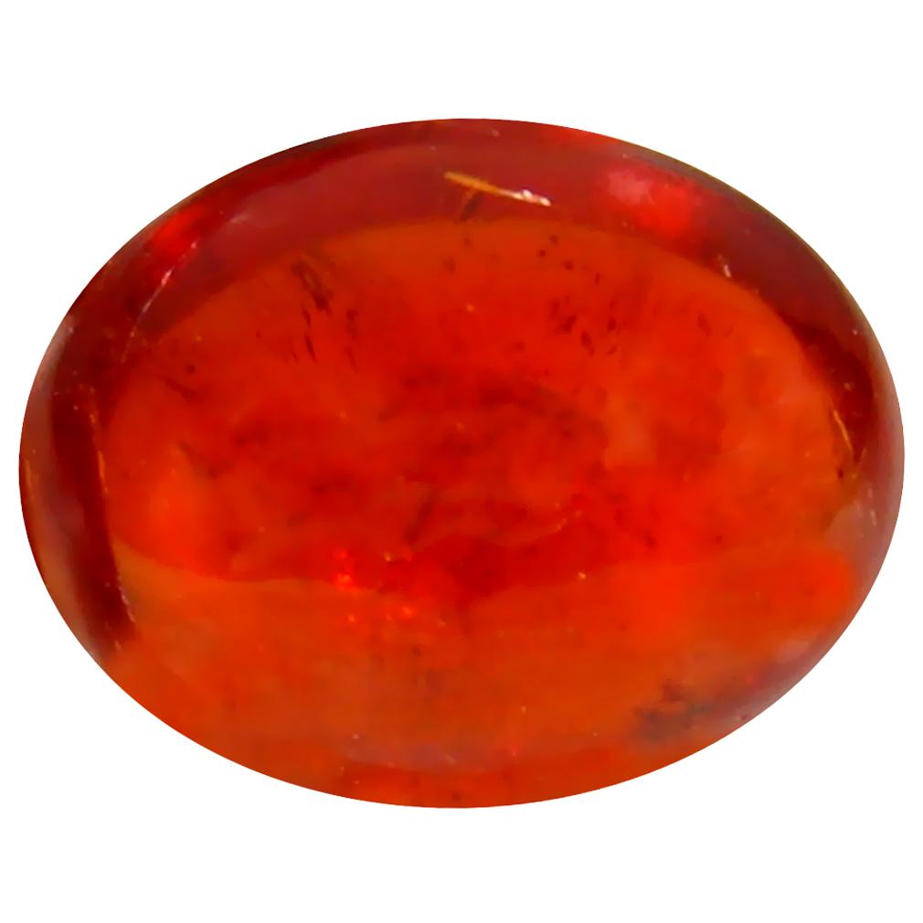 2.00 ct Fabulous Oval Cabochon Cut (8 x 7 mm) Namibia Reddish Orange Spessartine Natural Gemstone