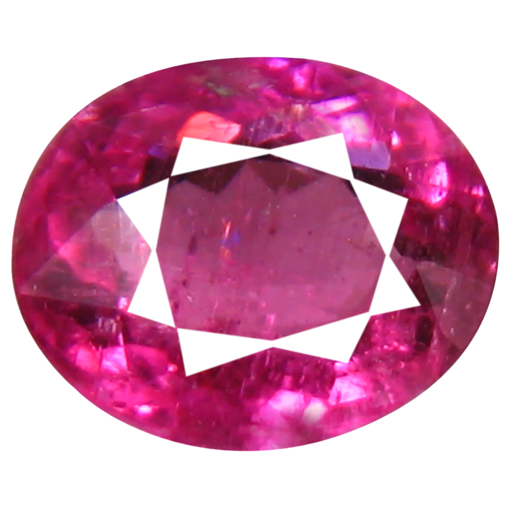 0.80 ct AAA+ Terrific Oval Shape (6 x 5 mm) Reddish Pink Rubellite Tourmaline Natural Gemstone