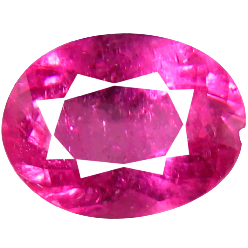 0.72 ct AAA+ Pleasant Oval Shape (7 x 5 mm) Reddish Pink Rubellite Tourmaline Natural Gemstone