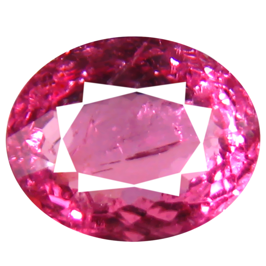 0.76 ct AAA+ Supreme Oval Shape (7 x 6 mm) Reddish Pink Rubellite Tourmaline Natural Gemstone