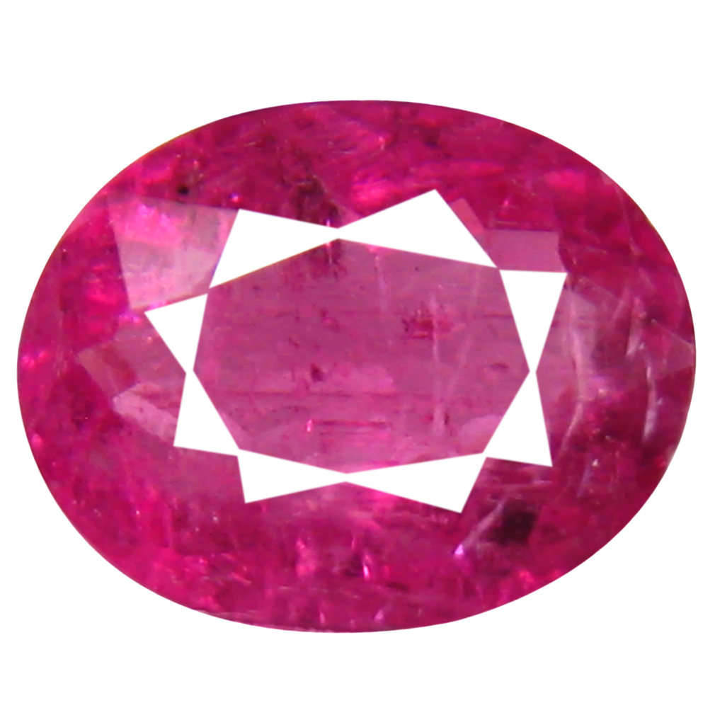 0.78 ct AAA+ Incredible Oval Shape (7 x 6 mm) Reddish Pink Rubellite Tourmaline Natural Gemstone