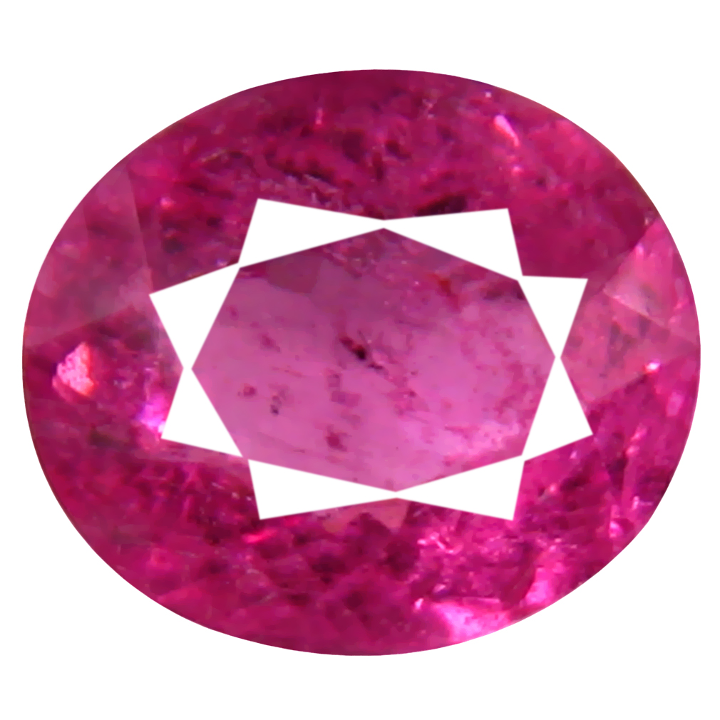 0.75 ct AAA+ Five-star Oval Shape (6 x 5 mm) Reddish Pink Rubellite Tourmaline Natural Gemstone