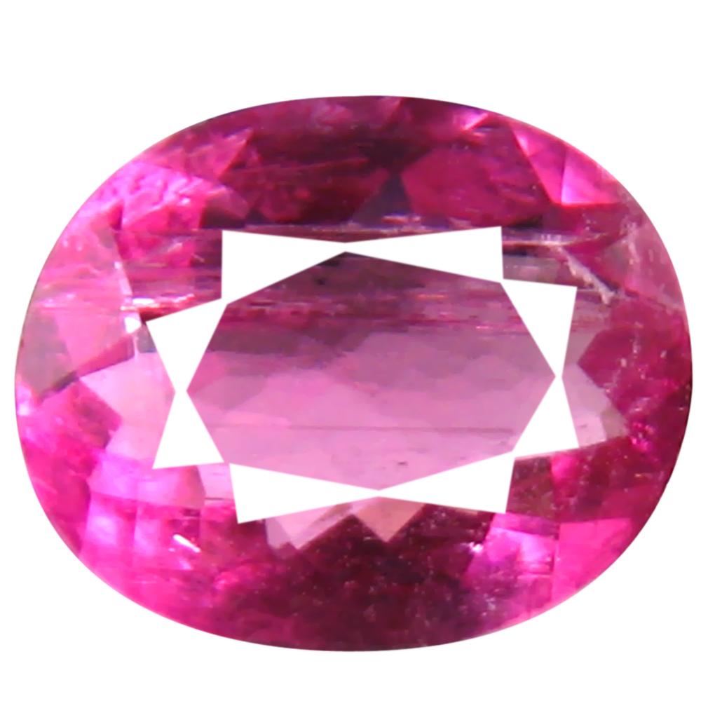 0.73 ct AAA+ Splendid Oval Shape (7 x 6 mm) Reddish Pink Rubellite Tourmaline Natural Gemstone