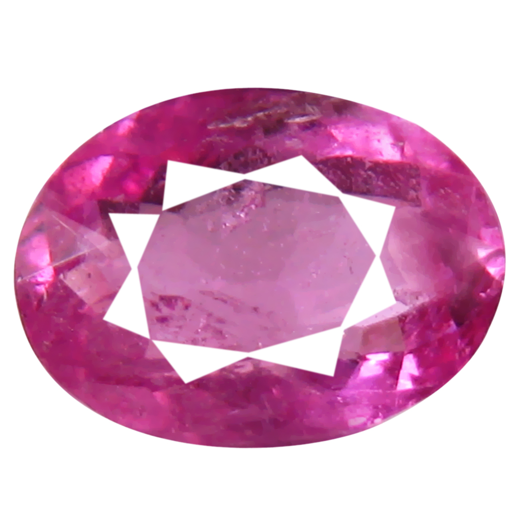 0.90 ct AAA+ Flashing Oval Shape (8 x 6 mm) Reddish Pink Rubellite Tourmaline Natural Gemstone