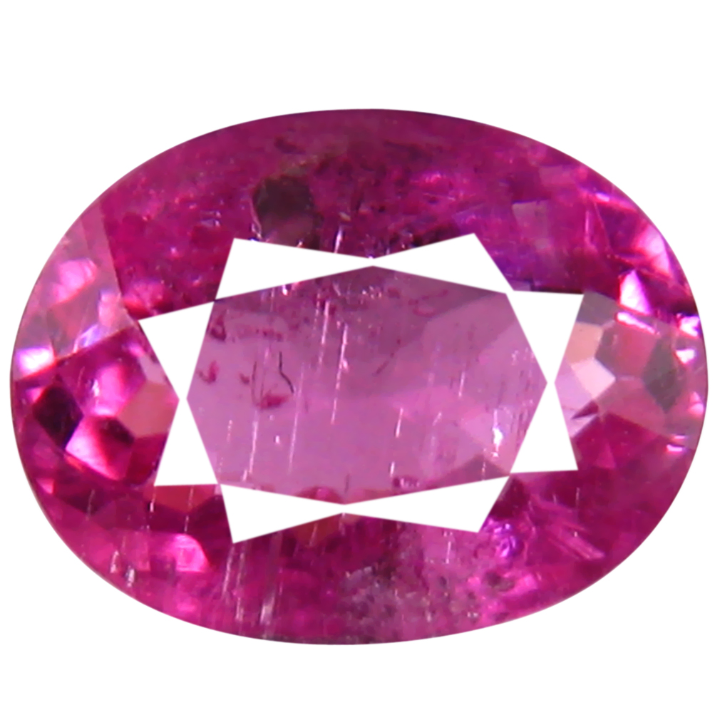 0.80 ct AAA+ Remarkable Oval Shape (7 x 5 mm) Reddish Pink Rubellite Tourmaline Natural Gemstone