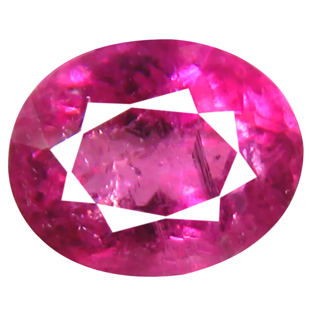 0.80 ct AAA+ Remarkable Oval Shape (6 x 5 mm) Reddish Pink Rubellite Tourmaline Natural Gemstone