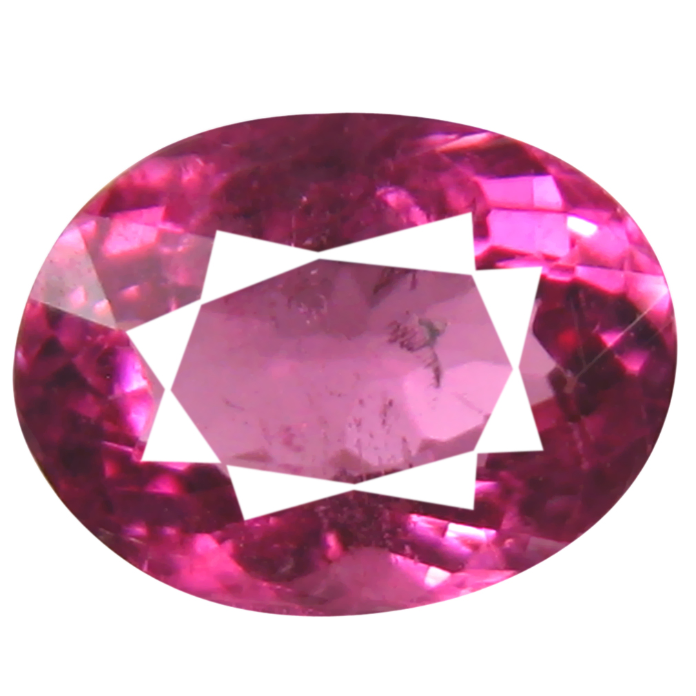0.83 ct AAA+ Extraordinary Oval Shape (7 x 5 mm) Reddish Pink Rubellite Tourmaline Natural Gemstone