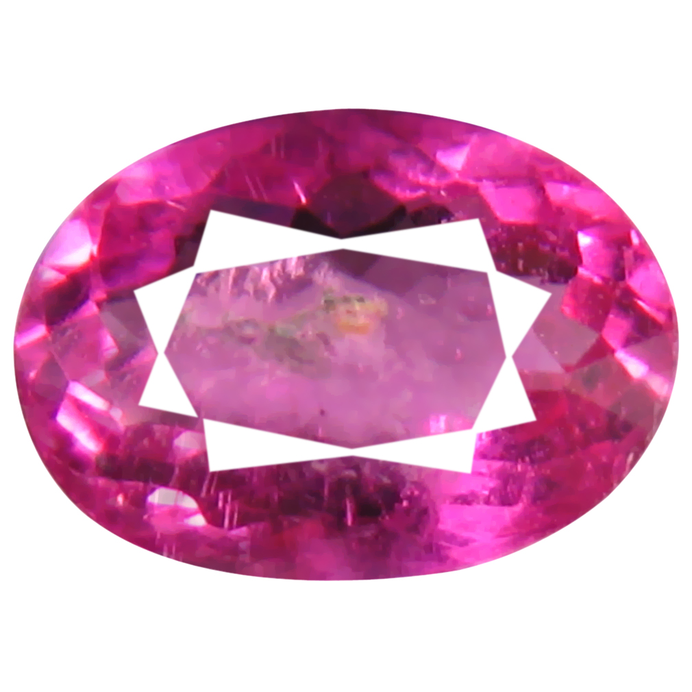 0.80 ct AAA+ Supreme Oval Shape (7 x 5 mm) Reddish Pink Rubellite Tourmaline Natural Gemstone