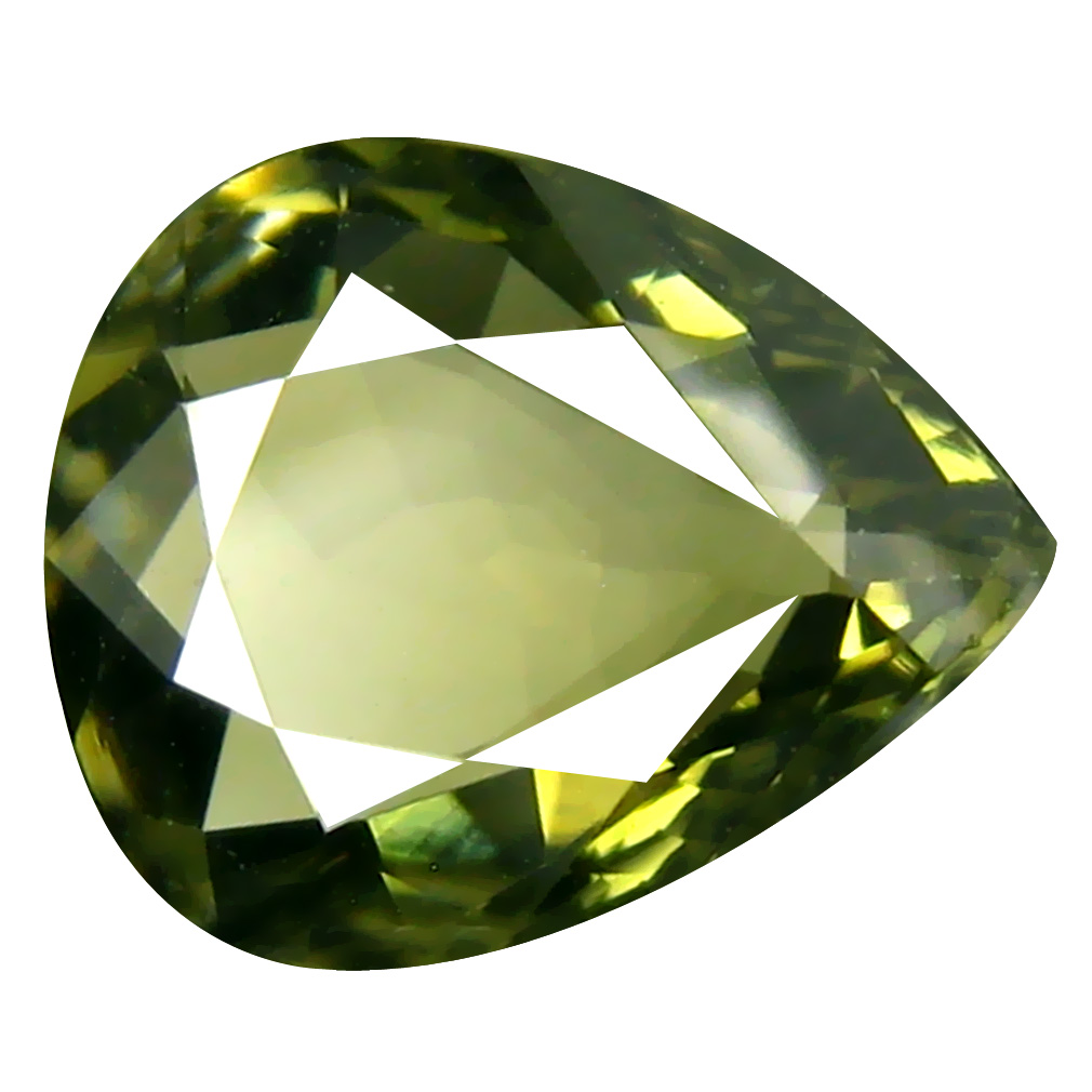 2.01 ct  Unbelievable Pear Shape (10 x 8 mm) Green Tourmaline Natural Gemstone