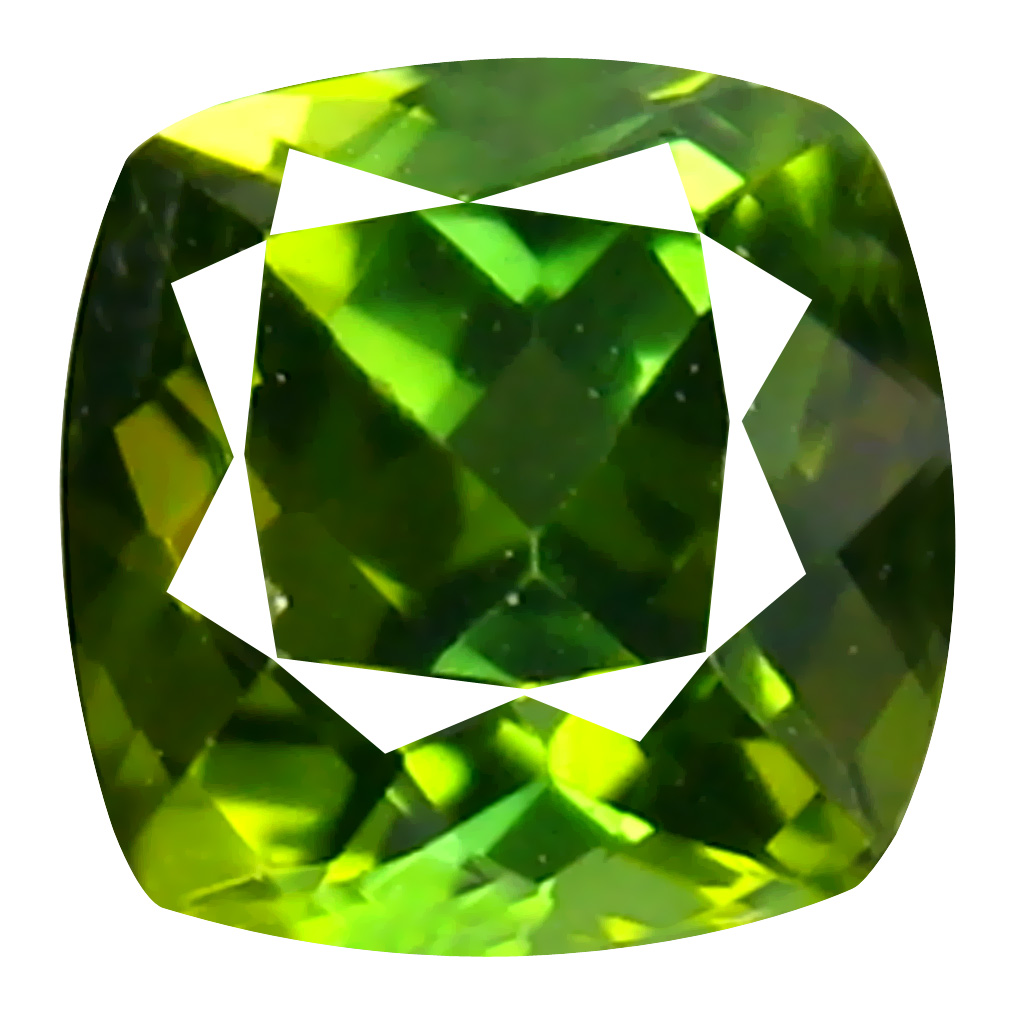 0.56 ct  Lovely Cushion Shape (5 x 5 mm) Green Tourmaline Natural Gemstone