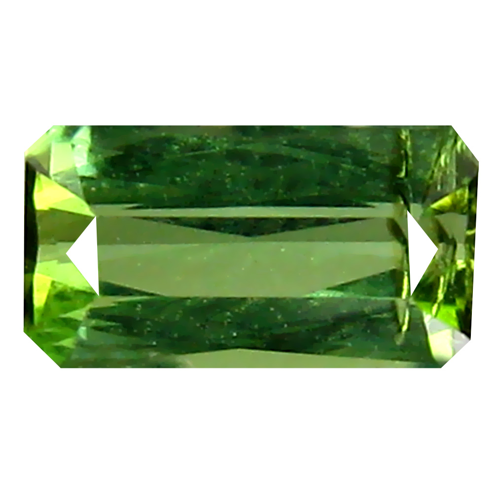 0.48 ct  Flashing Emerald Shape (6 x 3 mm) Green Tourmaline Natural Gemstone