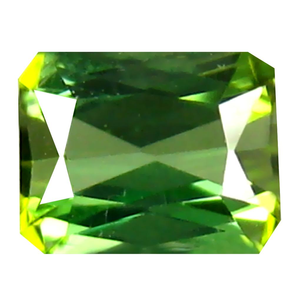 0.39 ct  Outstanding Emerald Shape (4 x 4 mm) Green Tourmaline Natural Gemstone