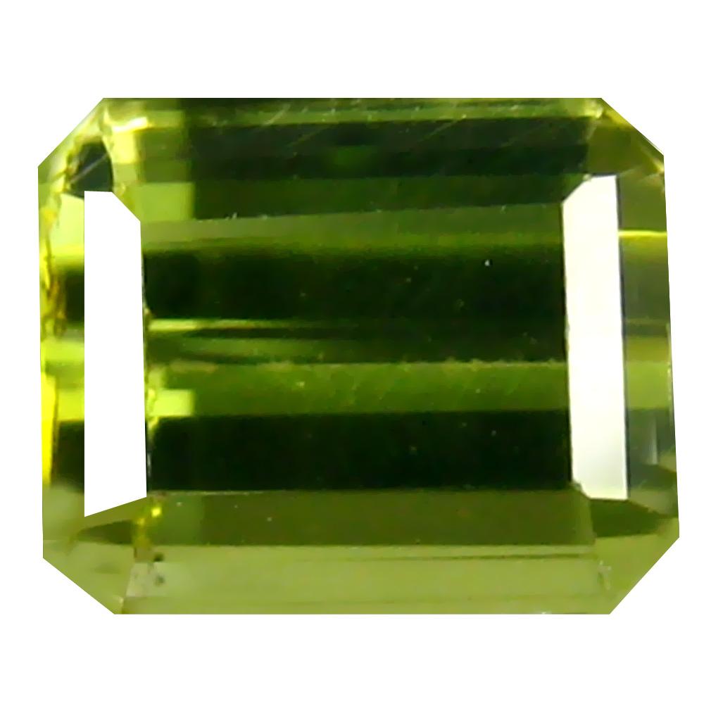 1.02 ct  Marvelous Octagon Shape (6 x 5 mm) Green Tourmaline Natural Gemstone